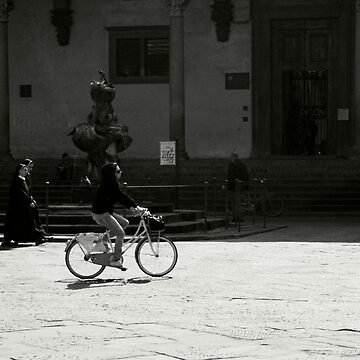 Two Nuns and a Cyclist by RedShedArt