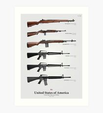 Cold War Service Rifles of the United States Art Print