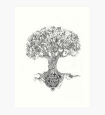 árbol De La Vida Dibujo Láminas Artísticas Redbubble