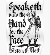 Speaketh Unto The Hand Poster