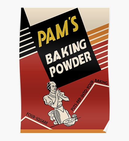 Pam's Baking Powder Poster Poster