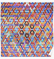 Triangular Wickerwork Poster