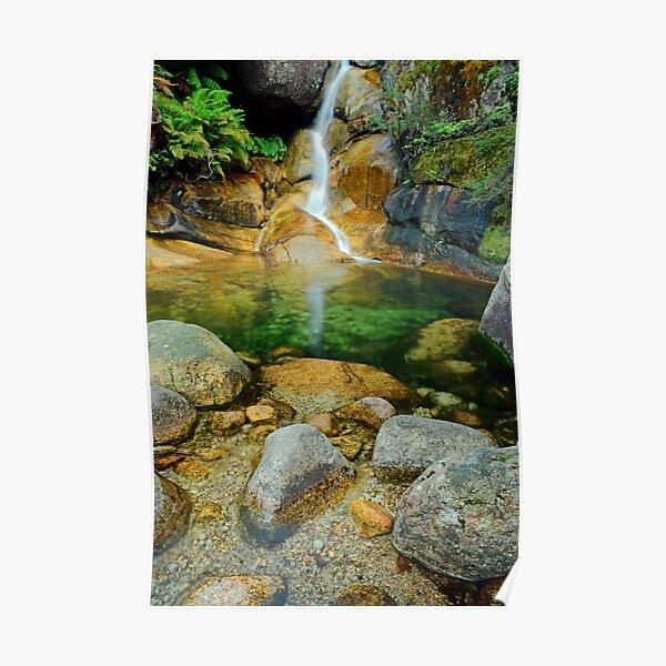 Ladies Bath Falls in Vertical Poster