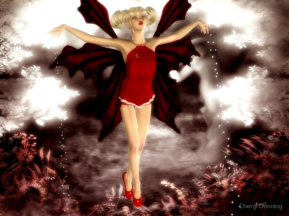 red fairy by Cheryl Dunning