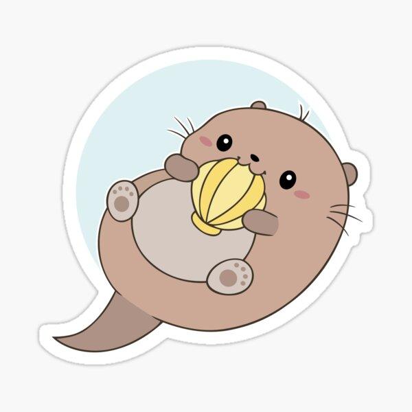 Happy little otter Sticker
