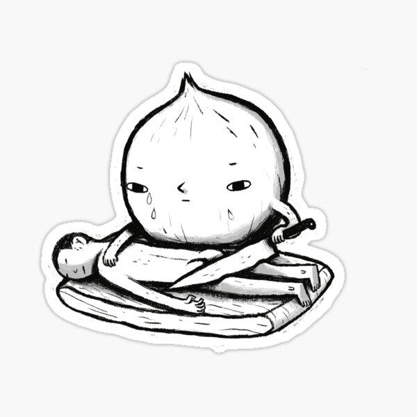 onion role reversal Sticker