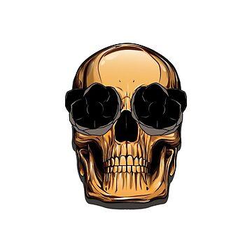 Gold Skull by SergejsG