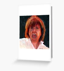 Lawrence Gowan of the Rock Group Styx Greeting Card