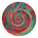 Abstract spiral sphere by blackhalt