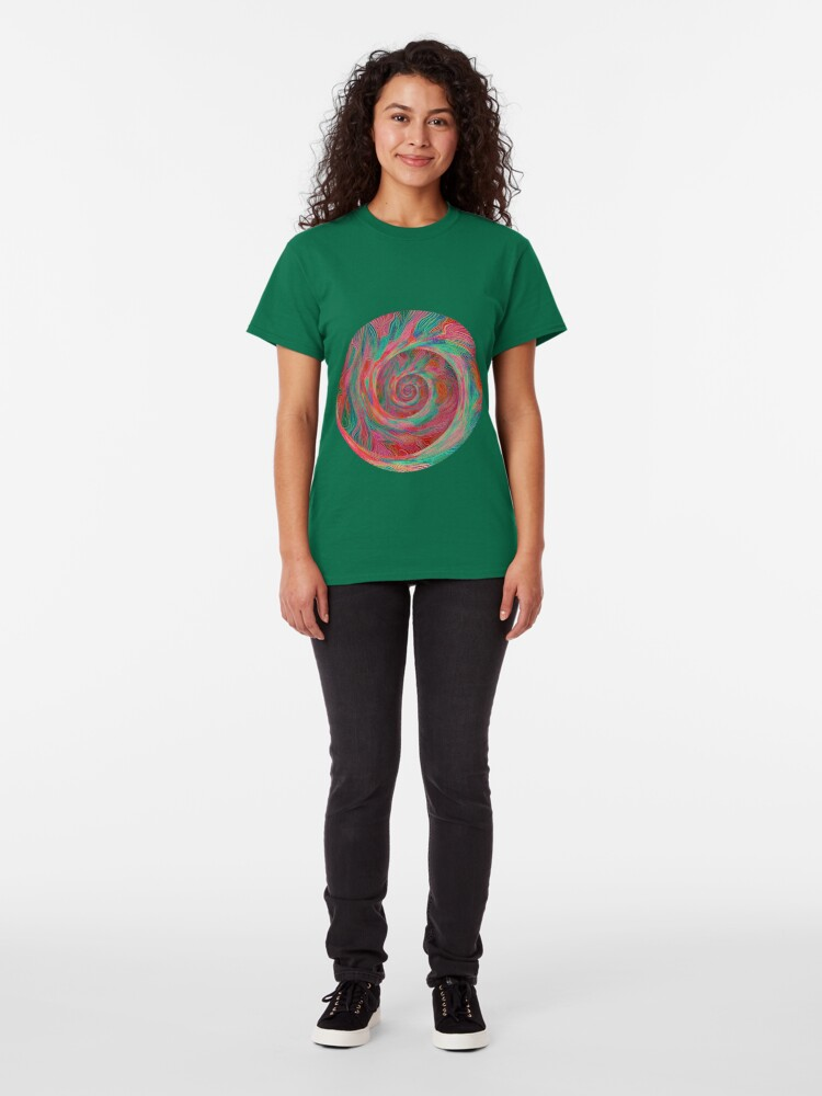 Alternate view of Abstract spiral sphere Classic T-Shirt