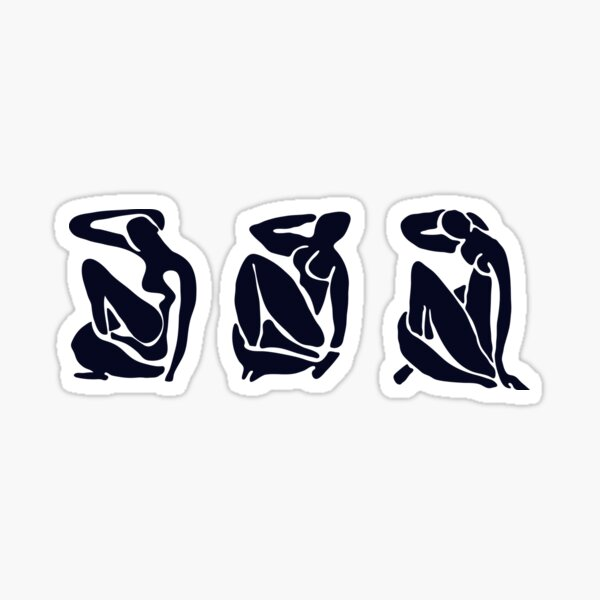 3 Black and White Women / Matisse Sticker
