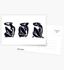 3 Black and White Women / Matisse Postcards