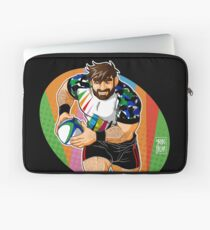 ADAM LIKES TO PLAY RUGBY - CHEERFUL VERSION Laptop Sleeve