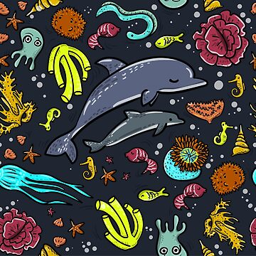 Sea life pattern by isabelrb