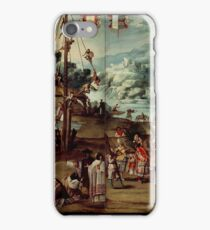 Unknown - Folding Screen with Indian Wedding and Flying Pole (Biombo con desposorio indigena y palo volador) iPhone Case/Skin
