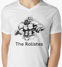 The Rolistes Podcast - Luchador (Mono) V-Neck T-Shirt