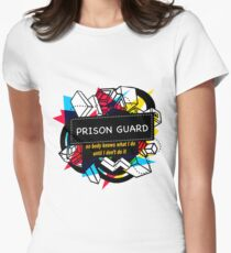 PRISON GUARD Women's Fitted T-Shirt