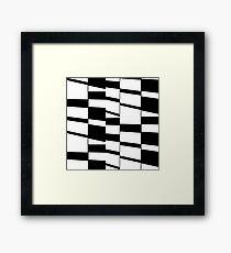 Slanting Rectangles Framed Print