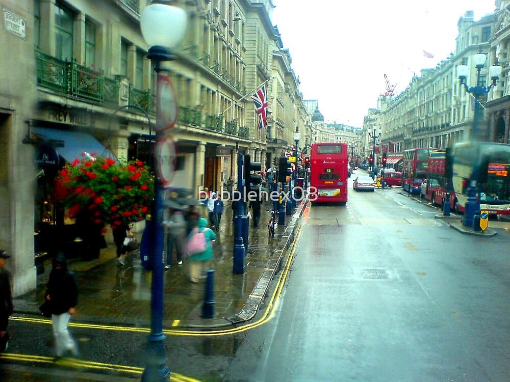 Rain in Regentstreet by bubblehex08