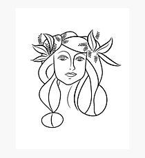 Skizze des Mädchens / Picasso Fotodruck