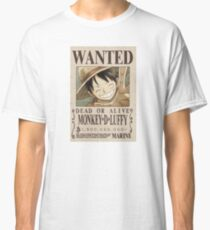 One Piece - Monkey D. Luffy 1.5 Billion Bounty Wanted Design Classic T-Shirt