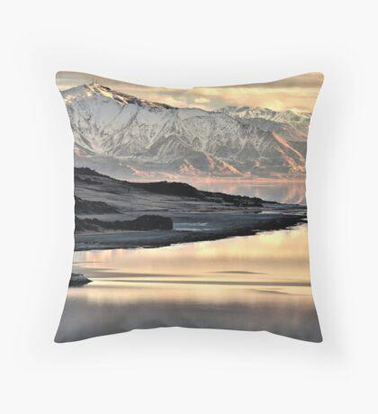 Sunlit Mountain  Throw Pillow