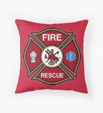 Fire Rescue Maltese Cross Throw Pillow