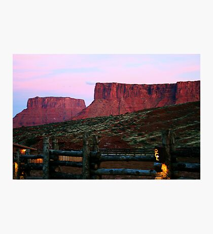 Sunset at Red Cliffs Lodge Photographic Print
