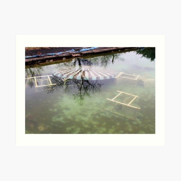 Pool Closed: Abandoned Resort Art Print