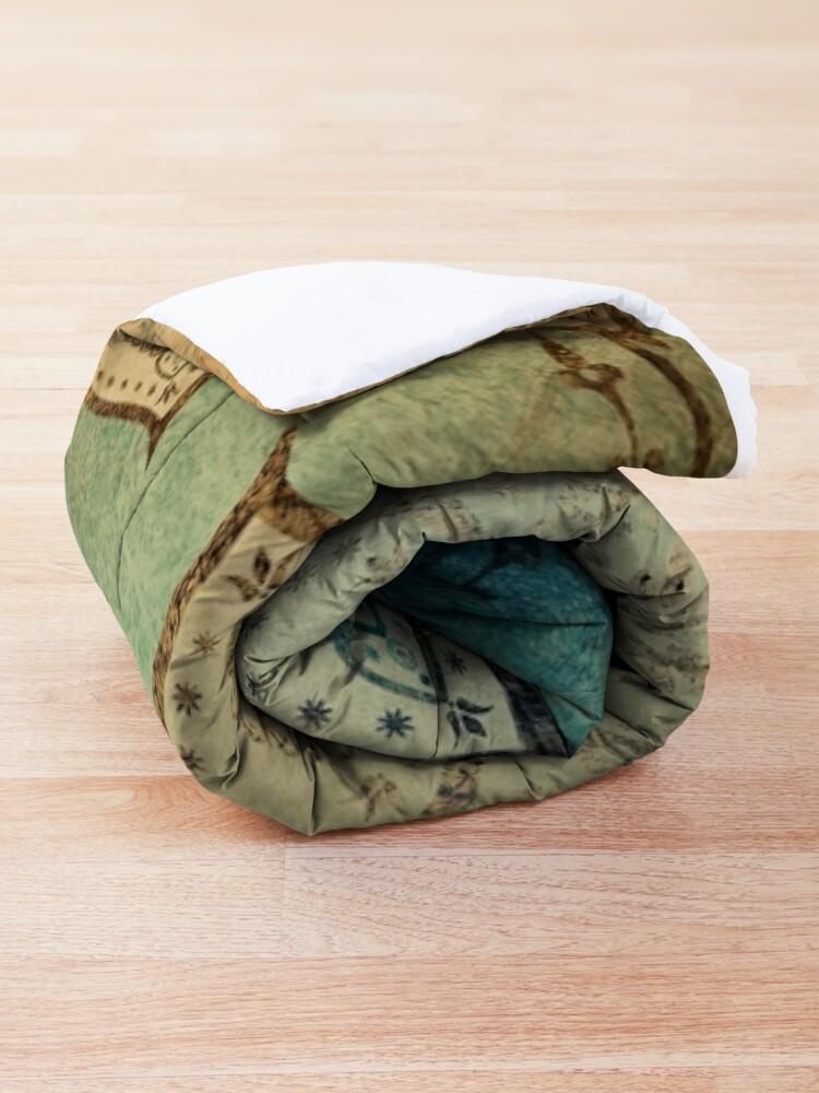 Alternate view of Faded Indian Mandala / Vintage Meditation Mandala Comforter