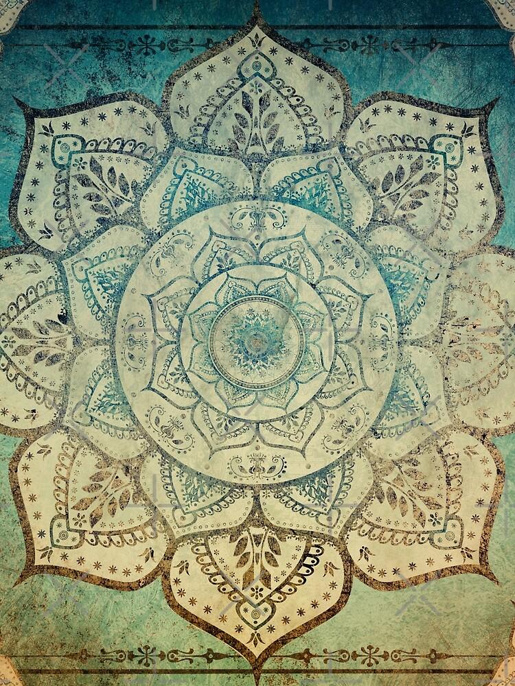 Faded Indian Mandala / Vintage Meditation Mandala by ImageMonkey