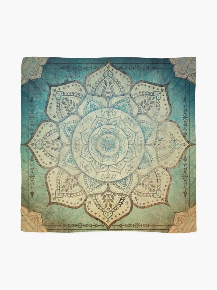 Alternate view of Faded Indian Mandala / Vintage Meditation Mandala Scarf
