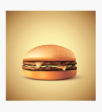 Cheeze!!! Burger Photographic Print
