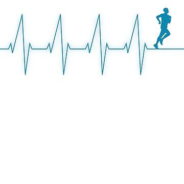 Running jogging Heartbeat Motivation T shirt - Run Novelty Tees gift by ArtOfHappiness
