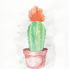 Red Floral Cactus by dreampigment
