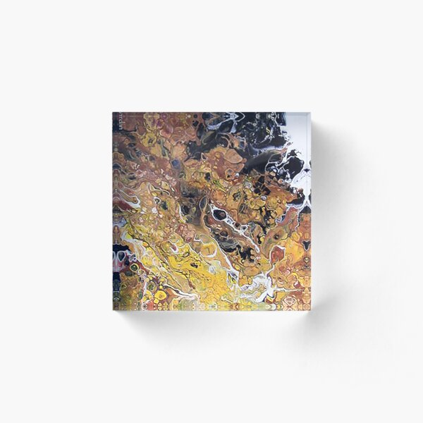 Sleep like a rock (acrylic pour) #new Acrylic Block