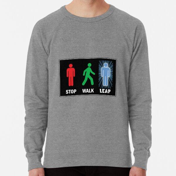 Quantum Leap Pedestrian Sign Lightweight Sweatshirt