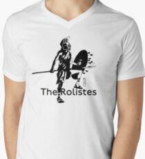 The Rolistes Podcast - Trojan (Mono) V-Neck T-Shirt