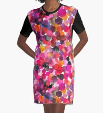 Watercolor dots Graphic T-Shirt Dress