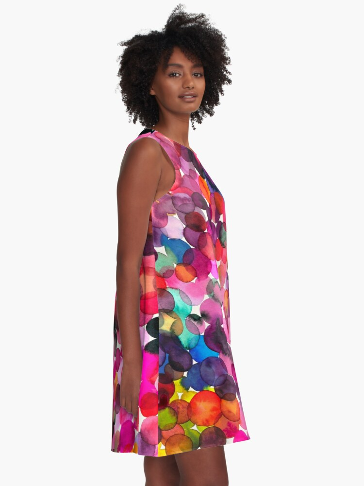Alternate view of Watercolor dots A-Line Dress