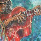 Red Guitar by Reynaldo