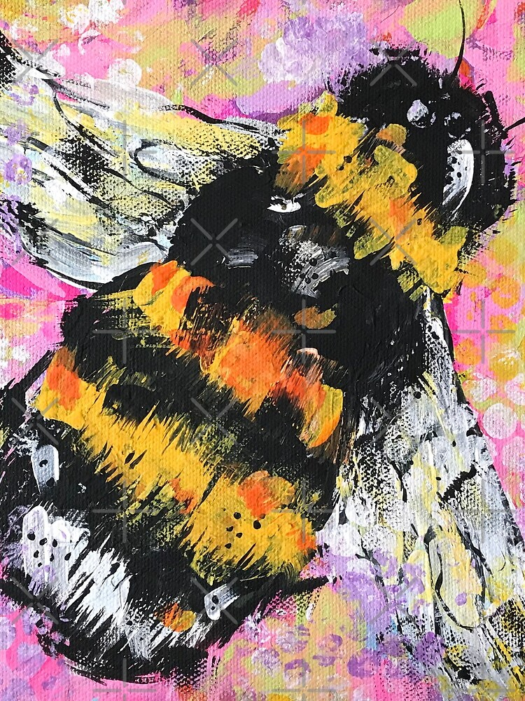 Abstract Happy Bumble Bee by jstunkard