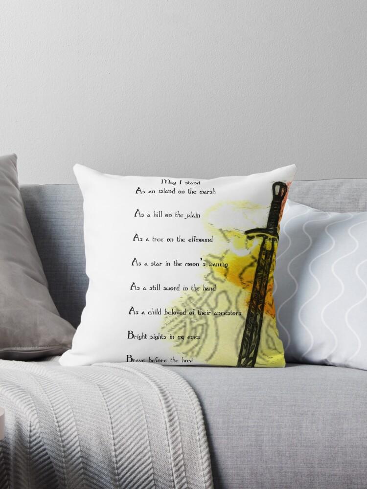 rune de protection coussins par dratsie redbubble. Black Bedroom Furniture Sets. Home Design Ideas