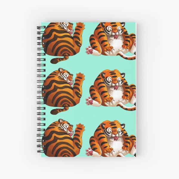 Two Fat Tigers Spiral Notebook