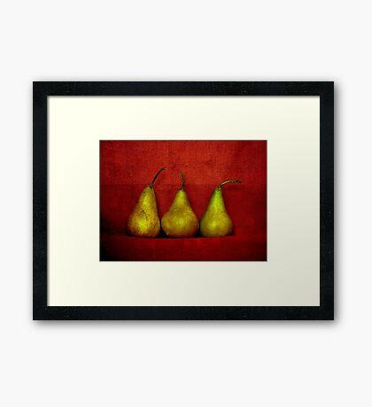 The Three Pears Framed Print