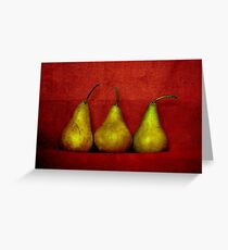 The Three Pears Greeting Card
