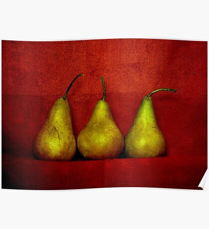 The Three Pears Poster