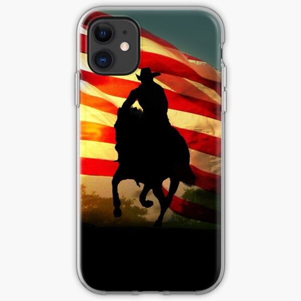Americana Patriotic Country Western, American Flag  iPhone Soft Case