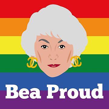 Bea Arthur Golden Girls Pride Proud by gregs-celeb-art