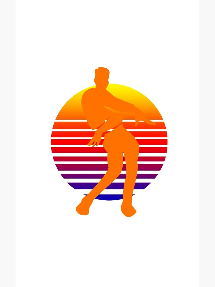 Orange Justice Dance Retro Case Skin For Samsung Galaxy By